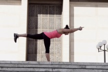 TRX для йоги: поза воина три